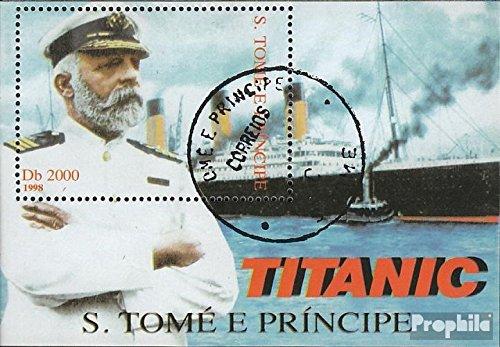 Prophila Collection Sao Tome e príncipe Block377 (Completa.edición.) 1998 Puesta de Sol el Titanic (Sellos para los coleccionistas) Marinero
