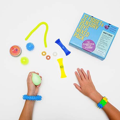 Purple Ladybug Novelty – Juguetes Fidget para la Ansiedad y el Estrés – 12 Juguetes Sensoriales para Niños y Adultos – Divertidos Juguetes Táctiles Niños – Juegos de Viaje