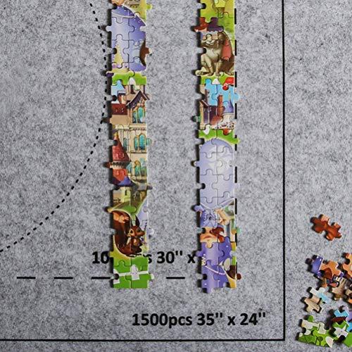 Puzzles Mat, Puzzles portátiles Mat Jigsaw Roll Felt Mat Play Mat Puzzles Blanket para hasta 1500 Piezas Puzzles Bolsa de Almacenamiento de Viaje para establos Guardar Rompecabezas inacabado