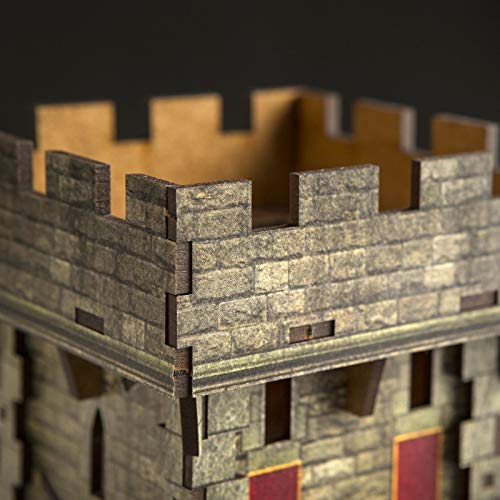 Q Workshop Medieval Color Dice Tower for Dice Rolling