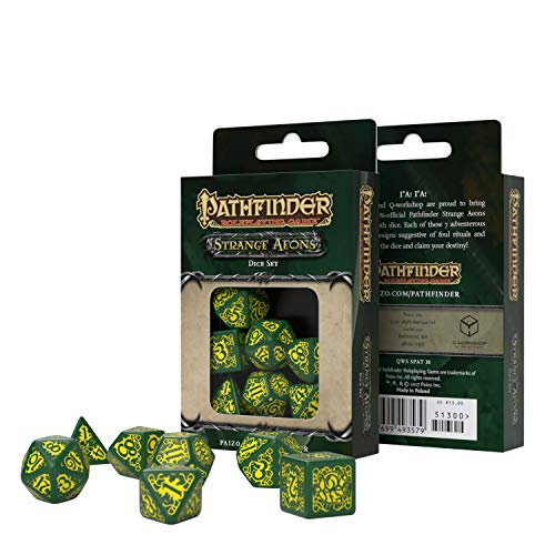 Q Workshop Pathfinder Strange Aeons RPG Ornamented Dice Set 7 Polyhedral Pieces