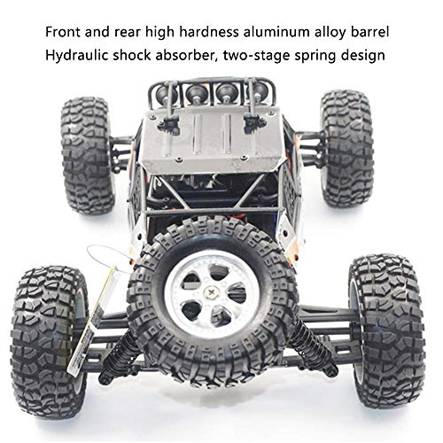 QJZH-D Mini coche, Unidad de campo a través de control remoto 2.4G chasis de aleación 30km de alta velocidad for niños Juguetes for niños, carreras de cepillado coche campo a través del desierto de ca