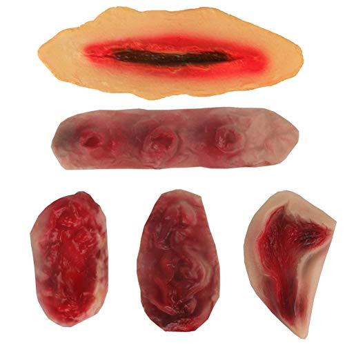 quanju cheer Halloween Simulación de Sangre Herida calcomanía Falsa Cicatriz Piel Espeluznante Maquillaje Adecuado para Halloween, casa embrujada, rol Jugar Fiesta