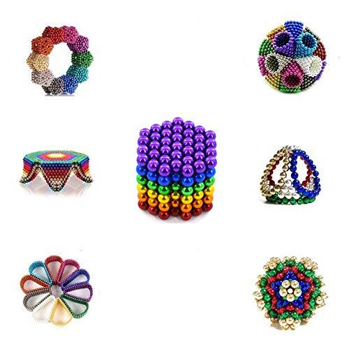 QUCHENG 216 y 5 mm para Placas magnéticas, pizarras Blancas, refrigeradores, soluciones Creativas para la reducción del estrés, construcción, Rompecabezas 3D en Color Adulto / Infantil (6 Colores)