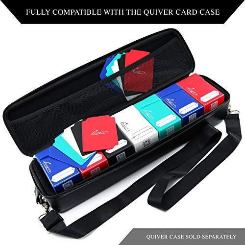 Quiver Time MTG / Pokemon / YuGiOh Tarjetas de tamaño estándar Deck Blocks | 5 Cajas de Juego | Blanco, Negro, Azul, Rojo y Verde