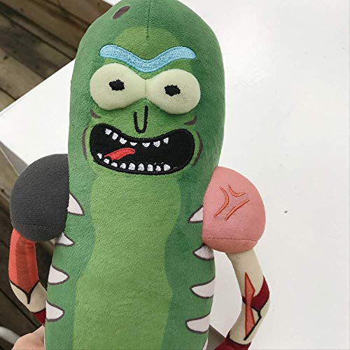 qwertt 45 Cm Pickle Rick Plush Doll Rat Suit Traje De Peluche De Pepino Doll Cartoon Toys Soft para Regalo De Niños