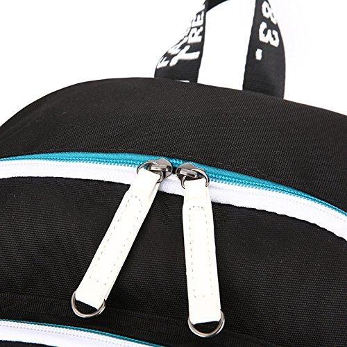 Qwhome Animado portátil mi héroe Academia de Cosplay Mochila, Moda Unisex Bookbag Mochila Bolso de Escuela con el Puerto de Carga USB,Blue 1