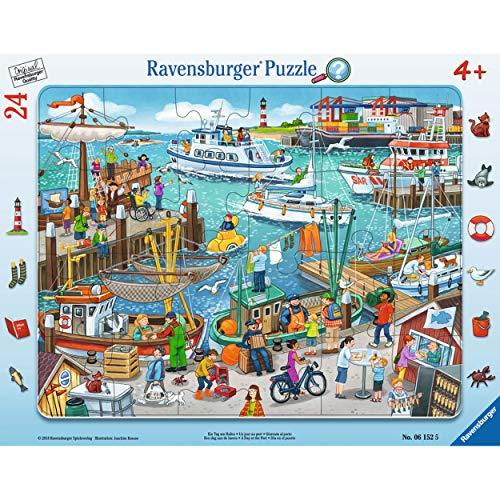 Ravensburger-00.006.152 Un día en el Puerto, Color marrón (00.006.152)