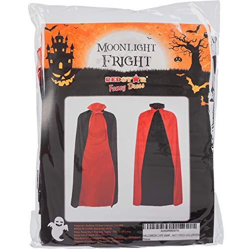 Redstar Fancy Dress - Capa Reversible de Conde Drácula - Ideal para Halloween - Rojo y Negro