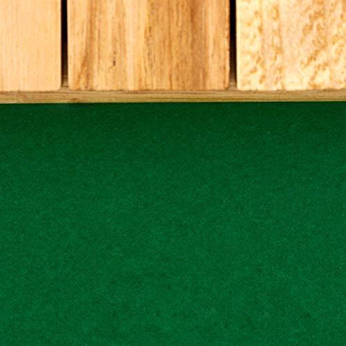 Relaxdays Cierra la Caja, Nueve Dados Tablero, Mínimo de Dos Jugadores, Juego en Familia, Marrón y Verde, Madera, Color (10023500)