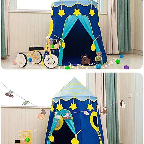 RENXR Príncipe o Princesa Castillo de Verano Castillo Niños Niños Jugar Carpa casa jardín Interior o Exterior Juguete Wendy House Playhouse Playa Sol Carpa niños niñas,Azul