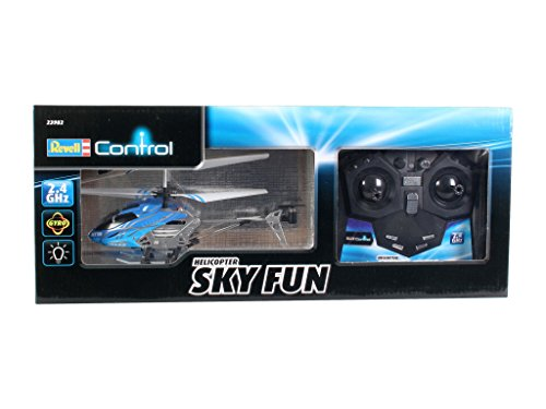 Revell - Helicóptero Sky Fun RTF/3CH con radiocontrol, 2.4 GHz (23982)