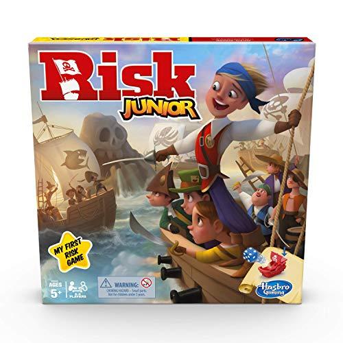 Risk Junior Game: Juego de Mesa de Estrategia; introducción de un niño al Juego clásico de Riesgo para Edades de 5 años en adelante; Juego temático Pirata