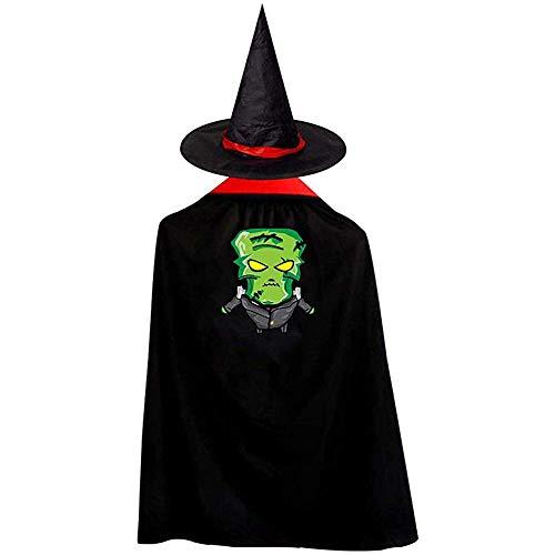 RJ Unique Capa De Mago,Happy Halloween Angry Zombies Disfraces De Halloween Bruja Mago Capa Capa con Sombrero Size: S
