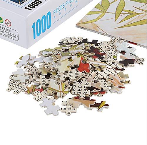 Rompecabezas de 1000 piezas Juguetes de rompecabezas -Tigre negro blanco- Decoración de ensamblaje de madera para el juego de juguetes para el hogar