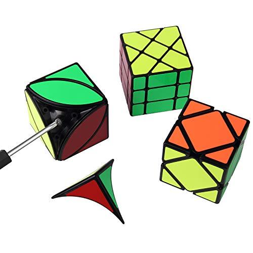 ROXENDA Cubos de Velocidad, [Paquete de 6] Speed Cube Set - Skew Axis Windmill Fisher Ivy 3x3x3 Speed Cube Smooth Magic Cubes Colección de Rompecabezas