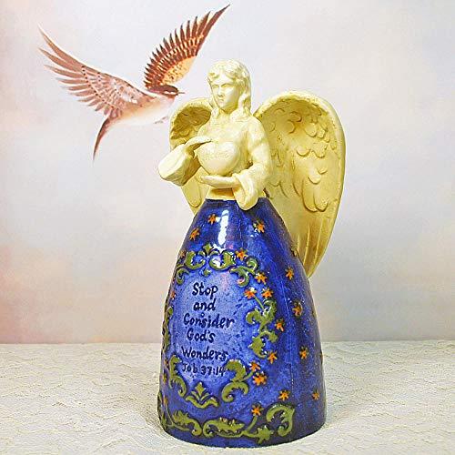 RSRZRCJ Figuritas Decorativas (Without Battery) Ceramic Angel Catholic Relics Christian Gifts Jesus
