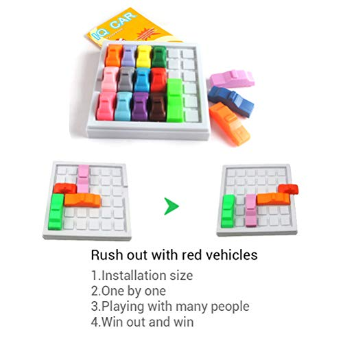 Rush Hour Shift Toy, 3D Car Model Maze Parking Geometric Puzzle Educational Toy Puzzles Game Toy
