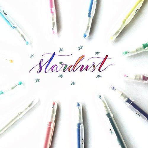 Sakura 37379 - Paquete de 5 bolígrafos de tinta de gel Gelly Roll de punta fina, Stardust 6-pc Galaxy, Unidad