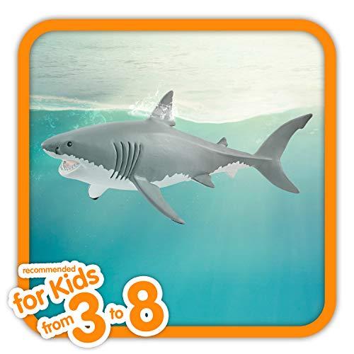 Schleich- Figura Tiburón Blanco, 7,8 cm