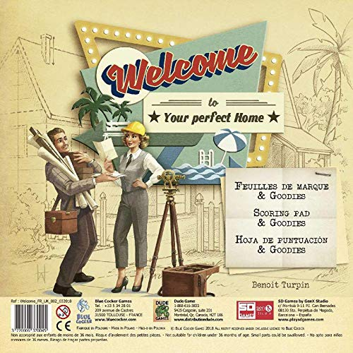 SD Games- Juego Familiar 10+ Welcome hacia Hogar. Bloc De Recambio Juguetes (Dirac 3770006370045)
