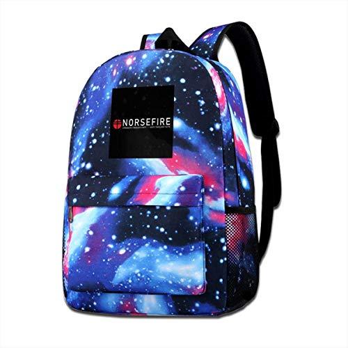 SFGHM Galaxy Printed Shoulders Bag Red Norsefire V para Vendetta, Trucker Cap Fashion Casual Star Sky Mochila para niños y niñas