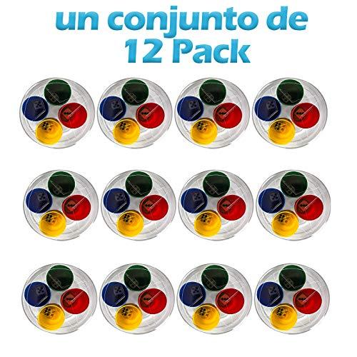 shafier 240 Fichas y 48 Dados para parchís Juego oca Color Rojo Verde Amarillo y Azul para 4 Jugadores Tambien Puede para niño Aprender Contar