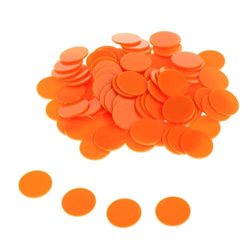 sharprepublic 25mm Fichas de Póker Bingo Chips Contadores de Transparente de Fichas Contando Marcadores de Plástico - Naranja