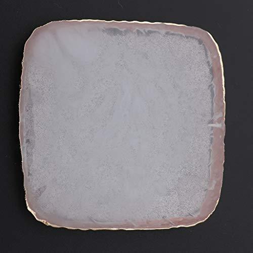sharprepublic Colores De Arte De Uñas Mezcla De Paleta Gel Esmalte De Uñas Titular Posavasos De Resina - Blanco, 8x8x0.8cm