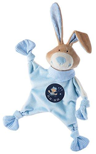 Sigikid 48826 - Mantita de seguridad con diseño de conejo y símbolo de Acuario, color azul