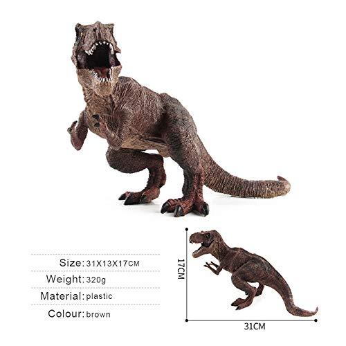Sipobuy Dinosaur Tyrannosaurus Rex Toys, Modelo estático Grande de Dinosaurio, Regalo Ideal para niños, niños y niñas, marrón