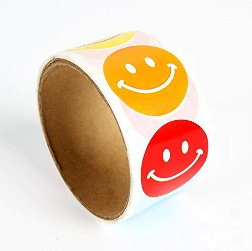 Smiley Felices Sticker Pegatinas Adhesivos Para Premios De Maestros Y Estudiantes Etiquetas Decorativas De Papel Redondo 2 Rollos 200 Piezas 6 Colores