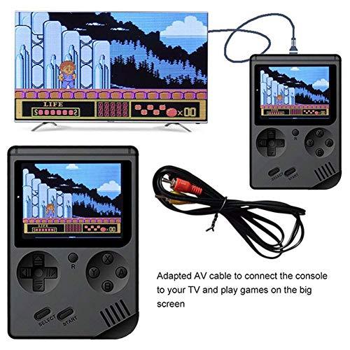 SODIAL Consola de Juegos de Mano, FC 3 Pulgadas 168 Consola de Videojuegos Clásica para Jugador de Juego Retro con 1 Carga USB para Regalos de Cumplea?os de Ni?os