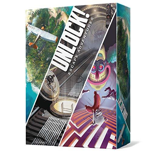 Space Cowboys-Juego de Cartas Unlock (Escape Adventures) (Asmodee SCUN0001)