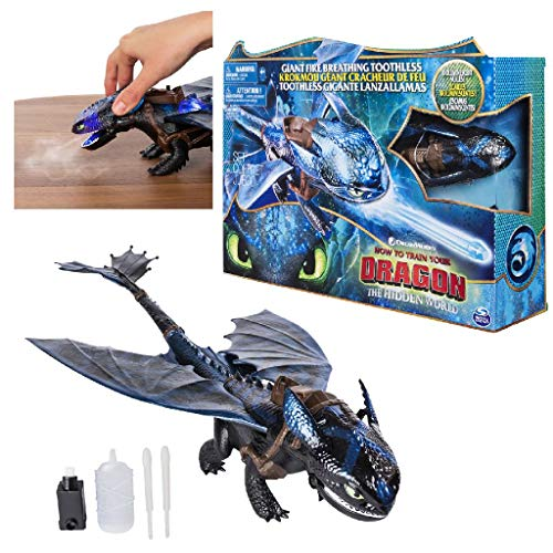 Spin Master- Feature Fire Breathing Toothless Figurine d'Action, Multicolor (6045436)