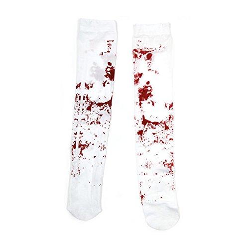 SpringPear® Medias Sangrientas Vestido de Noche de Zombie Manchado para Halloween Carnaval Fiesta del Tema Partido de Terror Cosplay Disfraz