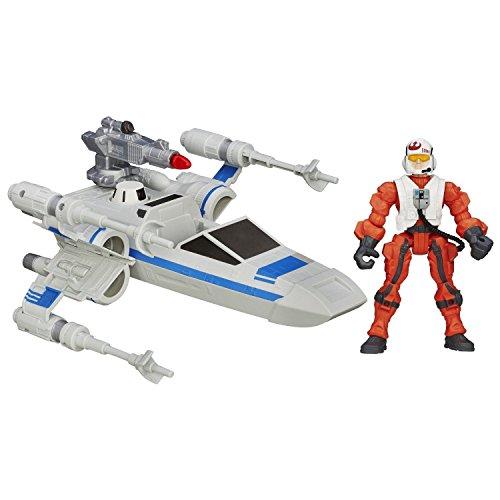 Star Wars El Despertar De La Fuerza Hero Mashers Ataque Vehículo ~ Resistencia X-Wing y resistencia Piloto