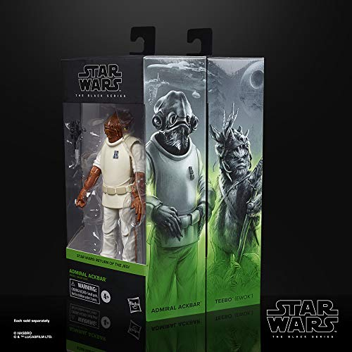 Star Wars - The Black Series, Figura de Admiral Ackbar (Hasbro E93565X0)