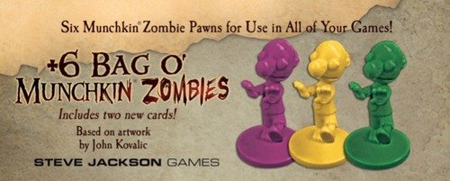 Steve Jackson Games Munchkin Plus de 6Bolsa o 'Munchkin Zombies Card Game