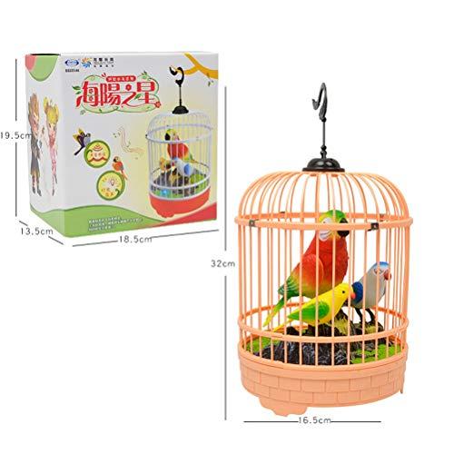 STOBOK Juguete Sonido Inductivo Control por Voz Cantando Pájaro Jaula Niños Juguete Divertido (Color Aleatorio)