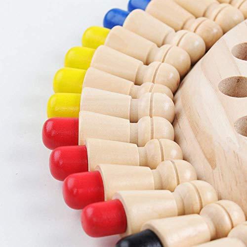 Sunshine smile Juguetes cognitivos de Color para niños,ajedrez de Memoria,ajedrez de Memoria Montessori,ajedrez de Memoria de Madera,ajedrez de Palo de Memoria de Madera,Niños ajedrez de Memoria