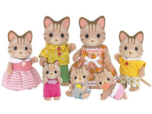Sylvanian munecas familia de los gatos isla FS-26