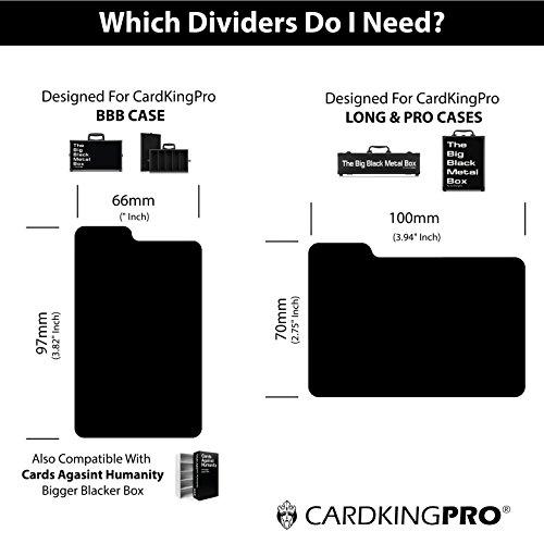 Tarjeta Profesional de almacenamiento casos   apto para tarjetas contra la humanidad, Magic the Gathering etc. (Juego No Incluido)   incluye 8separadores