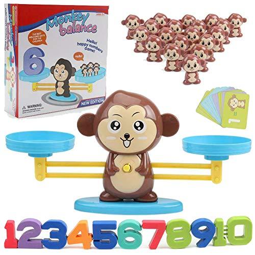 Teekit Monkey/Pig/Dog Toy Balance Cool Math Table Game Fun Educational Gift for Girls Boys