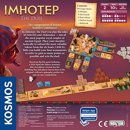 Thames & Kosmos 694272 Imhotep: The Duel | La Competencia de los constructores continúa. | Juego de Estrategia, 2 Jugadores | Edades 10+ |