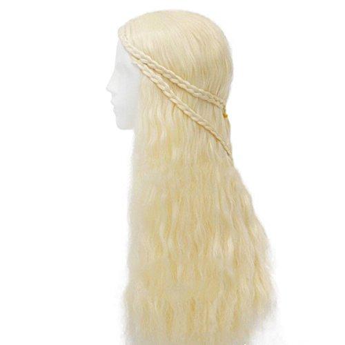 thematys Khaleesi Daenerys Targaryen Peluca Wig - Disfraz de Game of Thrones Carnaval y Cosplay - Mujeres