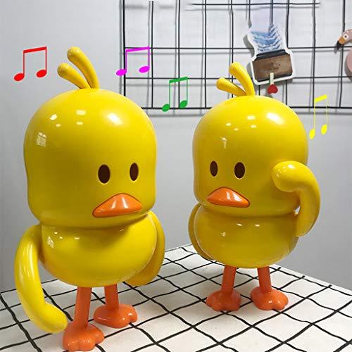 Theshy Juguetes para bebés Danza eléctrica Pato Amarillo Niños Aprendizaje temprano Juguetes educativos Musicales Regalos (16x12.5x24cm, Amarillo)