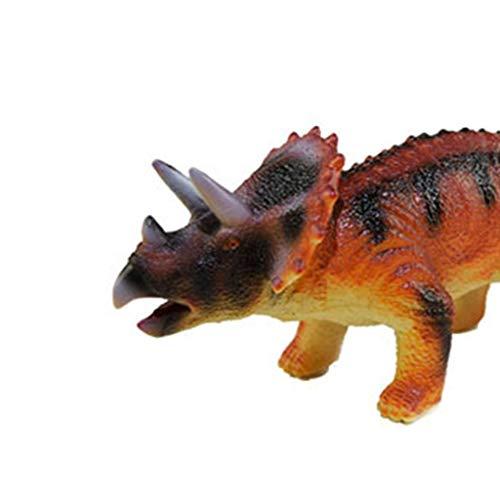 Theshy Kids Interactive Walking Dinosaur Glowing and Music Educational Toy para niños (28 x8x8.5cm, B)