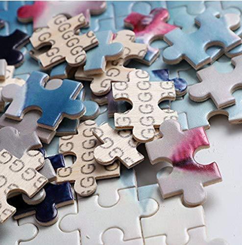 TIEZI Puzzles Calavera Muerte bajo la Lluvia Grande Puzzle Juego Rompecabezas Madera 1000 Piezas Niños para Adultos Juguetes Decoración hogar Regalo Vacaciones