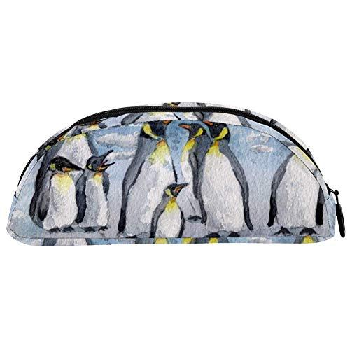 TIZORAX - Estuche para lápices de acuarela, diseño de pingüino
